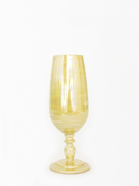 Yellow Pearl Champagne Glass