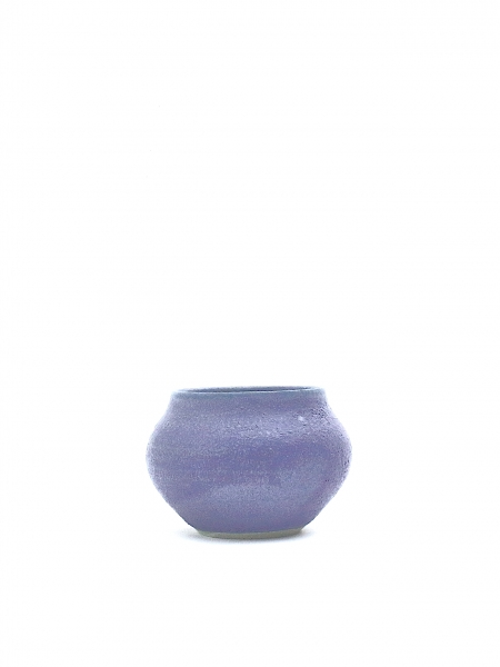 Blue crystal spiral small vase